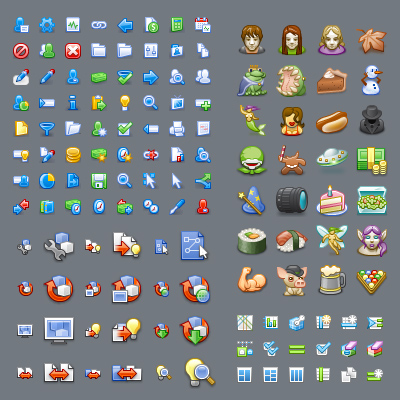 Over ten years of creating icons in all kinds of styles.